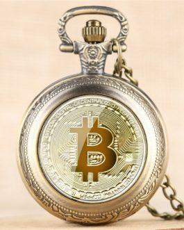 Montre de poche à Quartz Bitcoin homme et femme