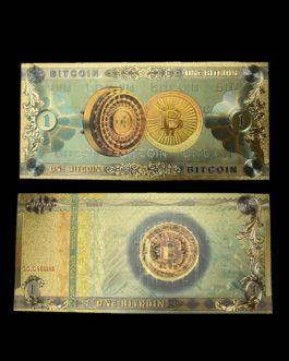Billets Bitcoin – 1BTC, en plastique feuille d'or, Collection de billets