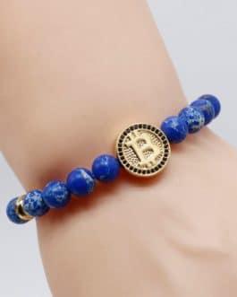 Joli bracelet Bleu Bitcoin pour hommes et femmes