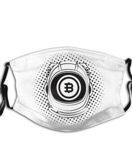 Masque Bitcoin astronaute unisexe réutilisable – 1 ou 5 masques