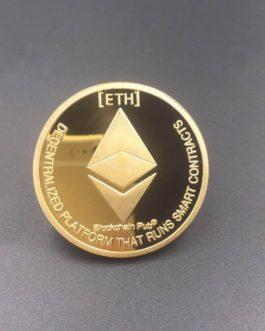 Coin / Pièce Ethereum commémorative ETH couleur or/argent