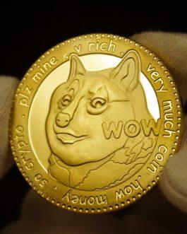 Coin / Pièce Dogecoin – DOGE – commémorative en métal