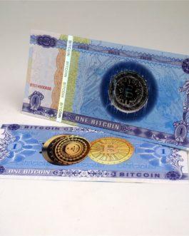 1 billet de banque One Bitcoin, Anti-faux, billet de collection