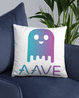 Coussin Crypto Classique – Logo Aave Ghost