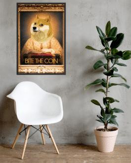 Affiche Encadrée Doge in 2050 – Exclusivité Crypto-shop