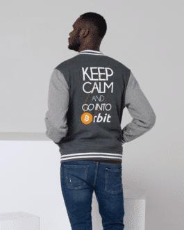 Veste Crypto Varsity homme Style Bitcoin Orbit