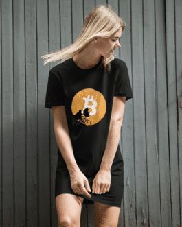 Robe Crypto en coton bio – Bitcoin Moon