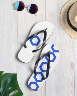 Paire de tongs crypto pour la plage – logo Chainlink