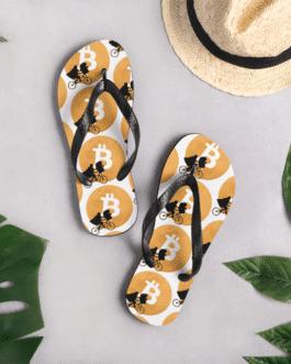 Tongs de plage Bitcoin Moon By Crypto-shop