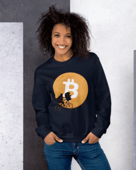Sweat Crypto pour Femme – Bitcoin Moon