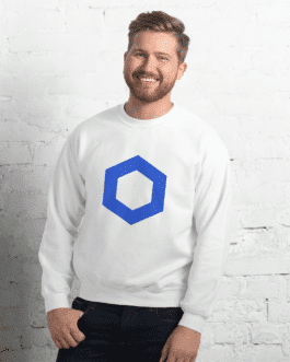 Sweat Crypto pour homme à Col Rond – ChainLink Logo
