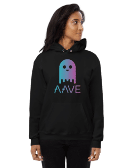 Sweat Crypto à capuche pour Femme – AAVE Ghost