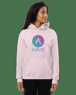 Sweat Crypto à capuche pour Femme – AAVE Logo