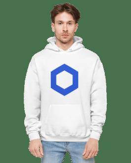 Sweat Crypto à capuche pour homme – Chainlink logo