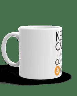 Mug Crypto Blanc Brillant – Bitcoin Orbit