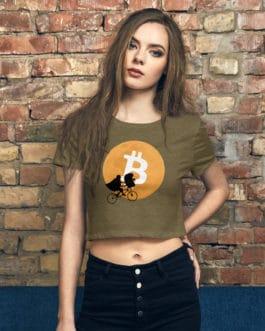 Tee-shirt Crop-Top Crypto – Design Bitcoin Moon