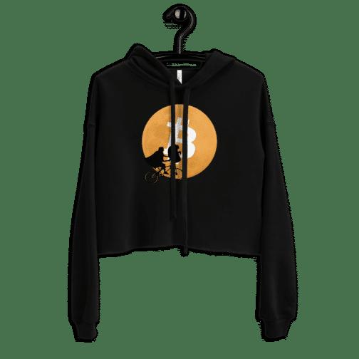 womens cropped hoodie black front 604b5feb39050