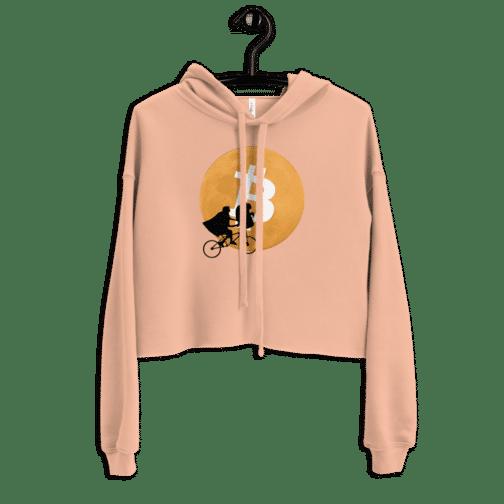 womens cropped hoodie peach front 604b5feb39a1f