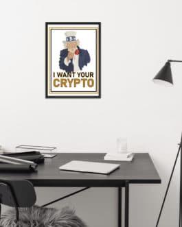 Affiche Crypto Encadré – Uncle SAM