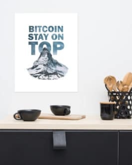 Affiche Inspirante Crypto – BTC Top