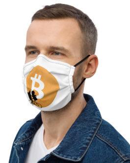 Crypto Premium face mask – Bitcoin moon