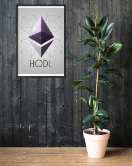 Crypto Framed matte paper poster – Ethereum