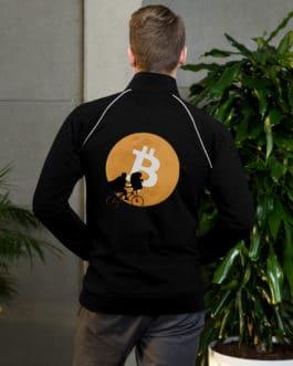 Crypto Piped Fleece Jacket – Bitcoin