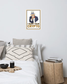 Crypto Photo paper poster – Uncle Sam