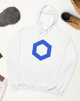 Crypto fleece hoodie – Chainlink