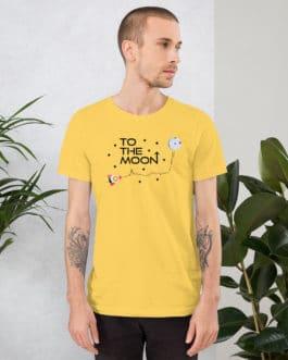 Crypto Short-Sleeve T-Shirt – To the moon