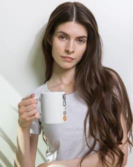 Crypto white glossy mug – Bitcoin