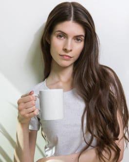 Crypto White glossy mug – Polkadot