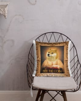 Coussin Haut de Gamme Crypto – DOGE In 2050