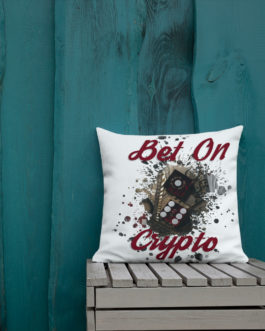 Coussin Haut de Gamme Crypto – BET ON