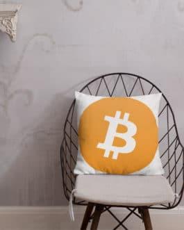 Coussin Haut de Gamme Crypto – BTC