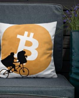 Coussin Haut de Gamme Crypto – Bitcoin Moon