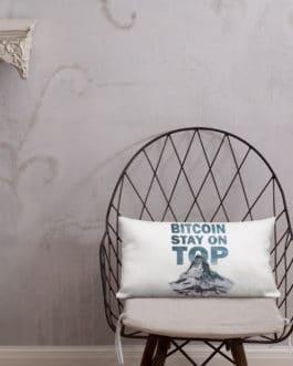 Coussin Haut de Gamme Crypto – Bitcoin Top