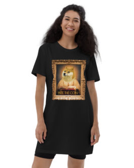 Robe t-shirt en coton bio Crypto – DOGE In 2050