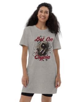 Robe t-shirt en coton bio Crypto – BET ON