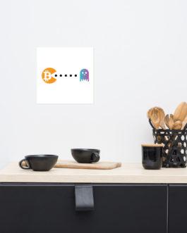Affiche sur Papier Photo Crypto – Pac-Man
