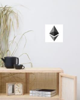 Affiche sur Papier Photo Crypto – ETH