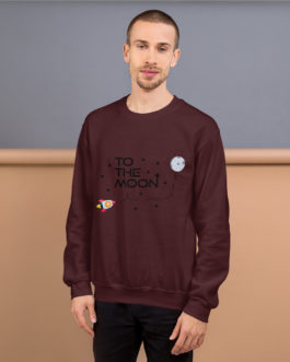 Sweat à Col Rond Crypto – To The Moon