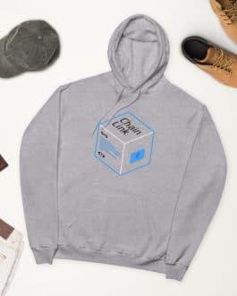 Crypto fleece hoodie – Link Logo