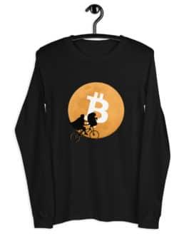 Crypto Long Sleeve Tee – Bitcoin Moon