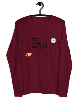 T-shirt à Manches Longues Crypto – To The Moon