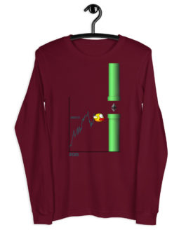 T-shirt à Manches Longues Crypto – Flappy