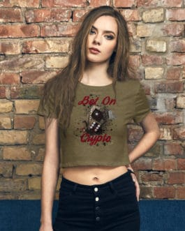 T-shirt Crop-Top pour Femme Crypto – BET ON