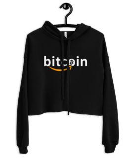 Sweat à Capuche Crop-Top Crypto – Bitzon