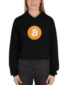 Sweat à Capuche Crop-Top Crypto – BTC