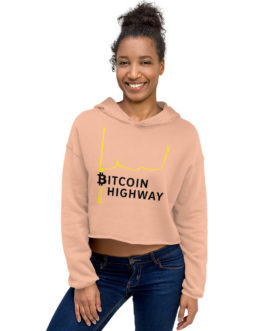 Sweat à Capuche Crop-Top Crypto – Hight Way